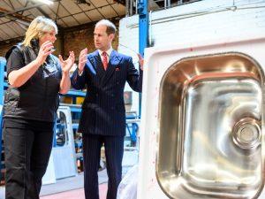 Prince Edward visits pland